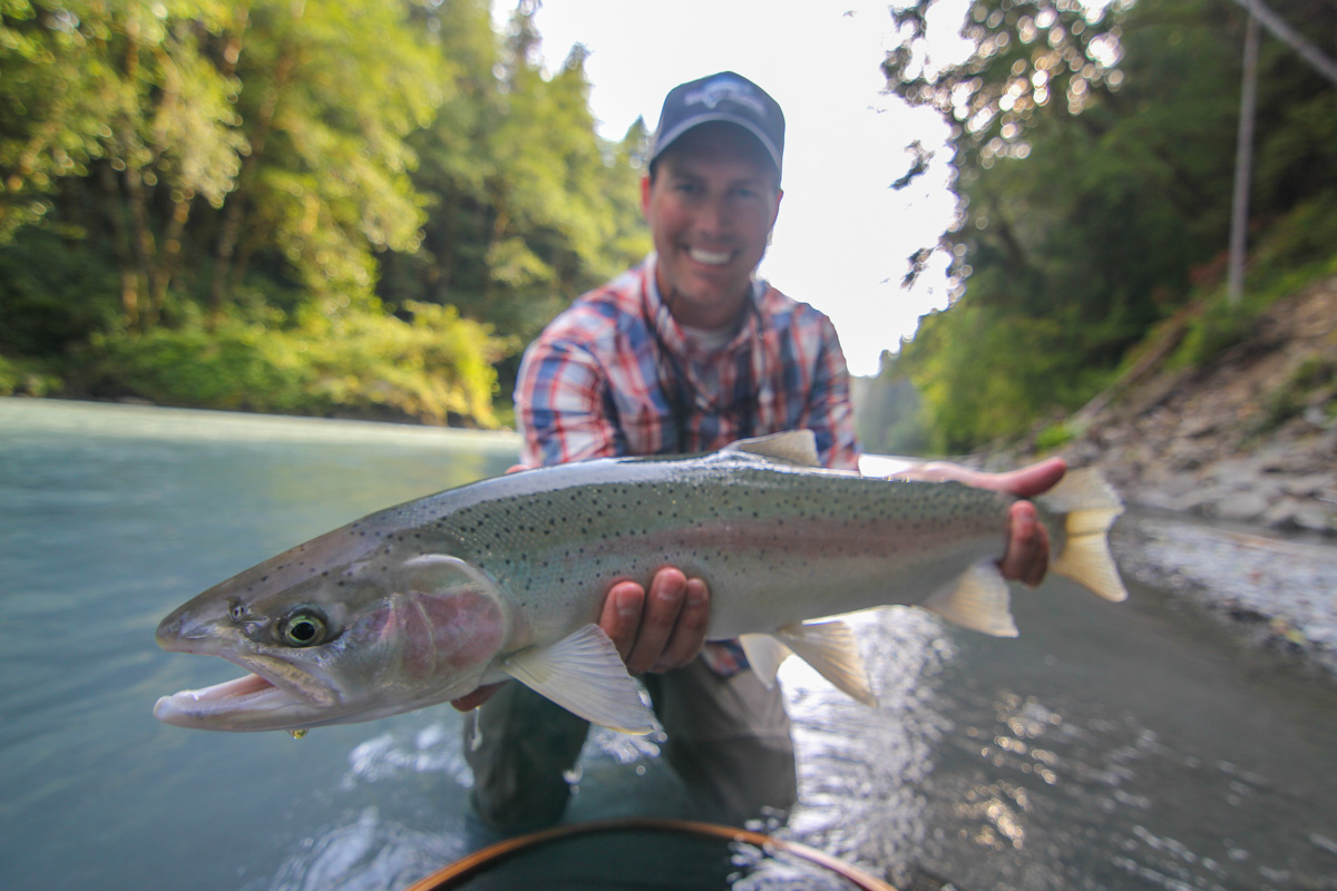 Washington fly fishing report finally some steelhead for Salmon fishing washington rivers