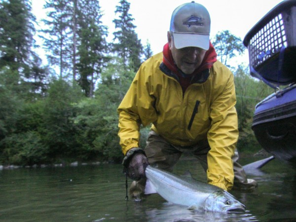 Washington state fly fishing report low water and coho for Fly fishing seattle